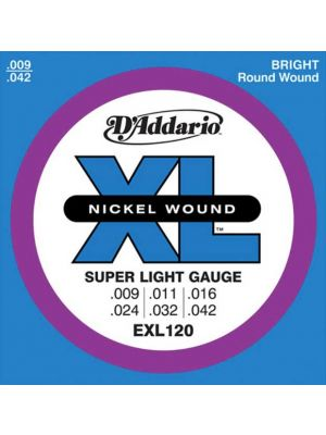 D'Addario EXL120 Electric Guitar String 9-42