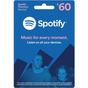 Spotify Gift Card $60